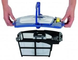 Filterkorb eines Poolroboters nach der Reinigung
