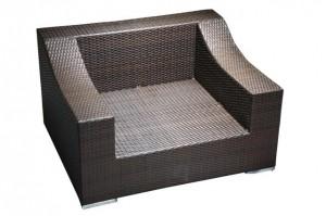 King Size Sessel aus Polyrattan Faser
