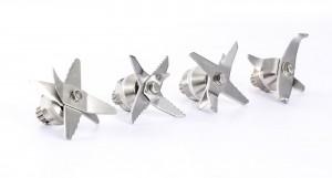 verschiedene Ausführungen von Messern für Hochleistungsstandmixer