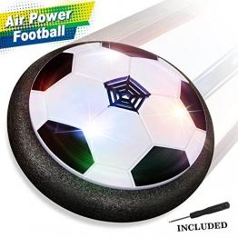 Air Power Fußball - Baztoy Hover Power Ball Indoor Fußball mit LED Beleuchtung, Perfekt zum Spielen in Innenräumen ohne Möbel oder Wände zu beschädigen - 1