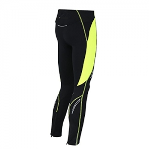 AIRTRACKS FUNKTIONS LAUFHOSE LANG PRO AIR / RUNNING HOSE / TIGHT / KOMPRESSION / REFLEKTOREN - L - schwarz-neon - 2