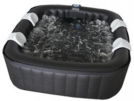 Aufblasbarer 4 - 6 Personen Whirlpool Aqua Bubble Spa XXL SQUARE, 130 Bubble Jets, 30 Watt Filterpumpe, geräuscharm, 5 - 10 Minuten Aufbauzeit - 1