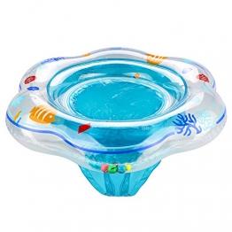 Baby Schwimmen Ring,Komake Kleinkind Kinder Schwimmender Schwimmhilfe Schwimmsitz Aufblasbarer Baby Schwimmring Hals,Geeignet für 1- 3 Jahre altes Baby - 1