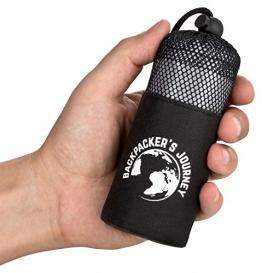 Backpacker's Journey ultrakleiner und ultraleichter (155g) Reiseschlafsack mit 2 Packvarianten, Hüttenschlafsack leicht, dünn, Inlett aus Mikrofaser. Ideal für Backpacking, Hostels und Hütten - 1