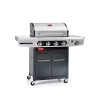 Barbecook Gasgrill Siesta 412 ohne Plancha, grau, 142 x 55,6 x 118 cm, 2239241202 - 1