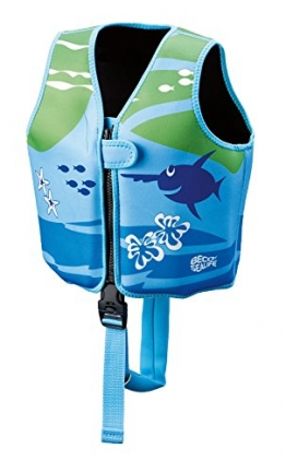 Beco 09639-008 - Sealife Schwimmlernweste, Größe M für 3-6 Jahre, blau/grün - 1