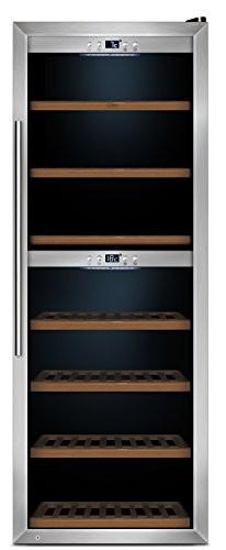 CASO WineComfort 126 Design Weinkühlschrank für bis zu 126 Flaschen (bis zu 310 mm Höhe), zwei Temperaturzonen 5-20°C, Getränkekühlschrank, Energieklasse B - 1