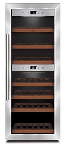 CASO WineComfort 38 Design Weinkühlschrank für bis zu 38 Flaschen (bis zu 310 mm Höhe), zwei Temperaturzonen 5-20°C, Getränkekühlschrank, Energieklasse A - 1