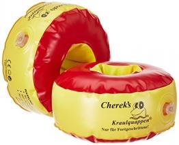 Cherek´s Kraulquappen 17cm für Fortgeschrittene rot/gelb Schwimmflügel Schwimmhilfe für Kinder - 1