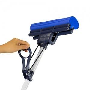 CleanAid OneTouch Easy Wischmop, Bodenwischer, Wringmop - besonders saugstark - mit PVA Schwamm und Teleskopstiel - 3