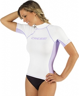 Cressi Damen Lady Black Rash Guard, LW476803, Weiß, M/3-40 - 1