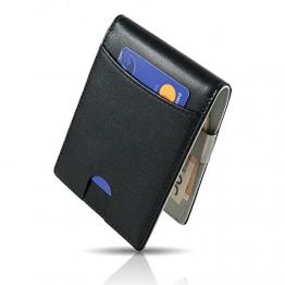 CRS Wallet Geldbörse mit Münzfach | Slim Wallet mit RFID Schutz und Geldklammer und Fächern für Kreditkarten | schlankes Portmonee/Geldbeutel - 1