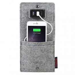 EasyAcc Handys Smartphone iphone 8 Plus iphone X Samsung Galaxy Note8 S8 S8 Plus S7Taschen LadehalterLadeständer,Ladestation für iPhone 6S 6 HTC Hawei LG Digital kameras und viele andere Geräte - Grau - 1