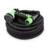Flexibler Gartenschlauch 30m schwarz - Testurteil SEHR GUT - Black Edition flexiSchlauch Sondermodell von tillvex mit verstärktem Gewebe - inkl. Zubehör - Dehnbarer Wasserschlauch - leicht & robust - 1
