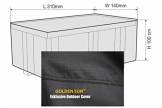 Golden Sun Luxus XXXL Möbel Wetter Schutzhülle, Abdeckung, Cover, Size 8 + 1 Square, 310 x 140 x 100 cm, Farbvariante carbon sterling - 2