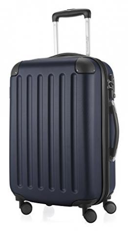 HAUPTSTADTKOFFER - Spree - Handgepäck Hartschalen-Koffer Trolley Rollkoffer Reisekoffer Erweiterbar, TSA, 4 Rollen, 55 cm, 42 Liter, Dunkelblau - 1