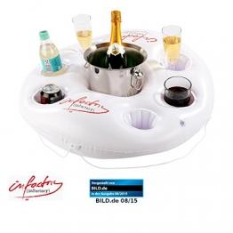 infactory Aufblasbarer Getränkehalter im coolen Rettungsring-Design - 1