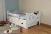 Kinderbett Jugendbett Juniorbett Massivholz mit Matratze 160x80cm (weiss) - 1
