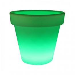 LED Pflanztopf LED Pflanztopf Pflanzgefäß Kunststoff Farbwechsel versch. Größen, Maße:Ø 50.8 cm. Höhe 47 cm - 1