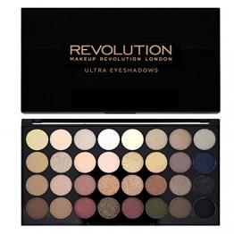 Makeup Revolution Schimmert und Matt Hautfarben Ultra 32 Lidschatten Eyeshadows Flawless Palette - 1