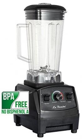Mixer La Bomba® Competizione GTS, Hochleistungsmixer nero/schwarz, Profi Smoothiemaker, Blender, 1500 Watt, 36000 rpm - 1