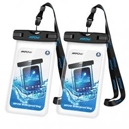 Mpow Wasserdichte Handy Hülle, 2 Stück Wasserdichte Hülle,Staubdichte,Stoßfeste, Schneeschutzanlage Wasserdichte Hülle für iPhone SE/6s/Plus/6/5s/5/5C,Galaxy S7,Huawei P8 usw bis zu 6 Zoll - 1