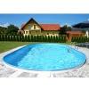 Oval-Pool-Set, Größe & Tiefe wählbar, 0,6mm Stahlwand, 0,6mm Poolfolie mit Einhängebiese, Edelstahl-Tiefbeckenleiter, Sandfilteranlage mit 6-Wege-Ventil, Filtersand, Skimmer- und Schlauch-Set-600 x 320 x 120cm - 6