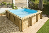 Pool aus Holz Naturalwood pistoche – 2,26 x 2,26 x h0,63 M - 4