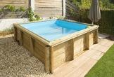 Pool aus Holz Naturalwood pistoche–2,26x 2,26x h0,63M - 4