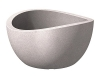 Scheurich Wave Globe Bowl, runde Pflanzschale aus Kunststoff, Taupe-Granit, 40 cm Durchmesser, 21 cm hoch, 12 l Vol. - 1