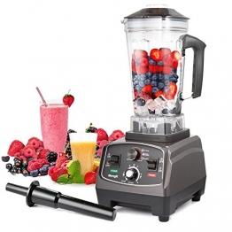 Standmixer MengK Profi Smoothie Maker Ice Crusher mit 25.000 U/min, 1400W, BPA-FREI 2 Liter Ideal für Smoothies, Eiscreme, Rohkost und Milchshakes(6 Edelstahlmesser) - 1
