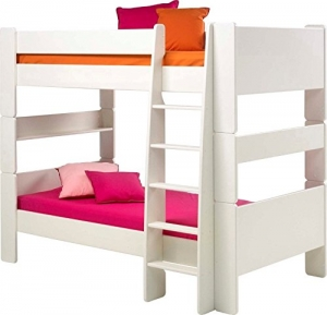 Steens For Kids Kinderbett, Etagenbett inkl. Lattenrost und Absturzsicherung, Liegefläche 90 x 200 cm, MDF, weiß - 1