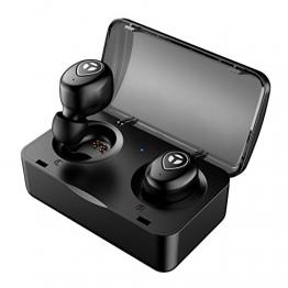 True Wireless Kopfhörer, Tranya Bluetooth Ohrhörer, Bluetooth Kopfhörer, HD Sound Sports Wireless Ohrhörer, Bluetooth Headset, Schweißgeschützte Kopfhörer Eingebautes Mikrofon zum Laufen, Geschenkbox - 1