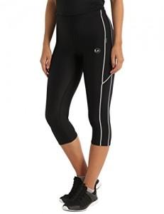 Ultrasport Damen mit Kompressionswirkung und Quick-Dry-Funktion Laufhose, 3/4 Lang, Schwarz/Weiß, M - 3