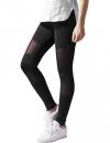 Urban Classics Ladies Tech Mesh Sport Leggings, lange Damen Fitnesshose mit halbtransparenten Einsätzen, Größe S - 1
