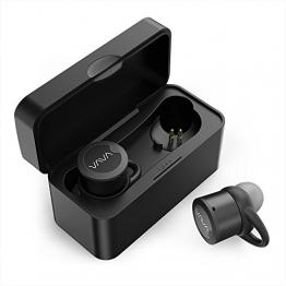 VAVA Bluetooth Kopfhörer True Wireless TWS Bluetooth Headset Earbuds 4.1 mit tragbarer Ladebox eingebautem Mikrofon sicheren Ohrbügel, kompatibel mit iOS & Android - 1