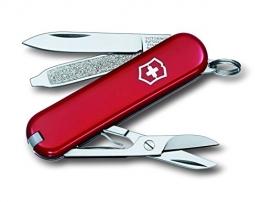 Victorinox Taschenmesser Classic SD (7 Funktionen, Schere, Nagelfeile mit Schraubendreher, Lebenslange Garantie) rot - 1