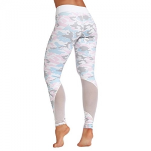 Yoga Leggings Vovotrade ☆☆Damen Sport Leggings yoga leggings damen Tech Mesh Sport Leggings Yoga Pants yoga leggings (White, Size:S) - 1